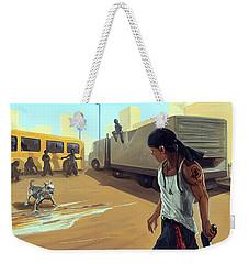 Turf War Weekender Tote Bag