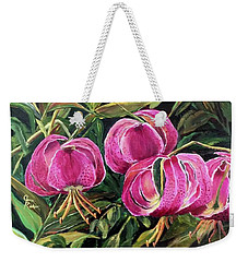 Turk Tigers In My Garden Weekender Tote Bag