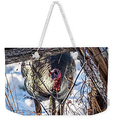 Weekender Tote Bag featuring the photograph Turkey In The Brush by Paul Freidlund