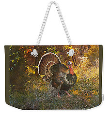 Turkey In The Woods Weekender Tote Bag