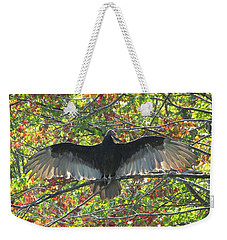 Turkey Vulture In Our Tree Weekender Tote Bag by Betty Pieper