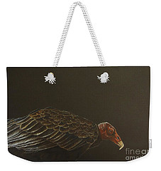 Weekender Tote Bag featuring the drawing Turkey Vulture by Laurianna Taylor