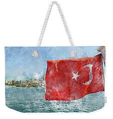 Turkish Flag Weekender Tote Bag