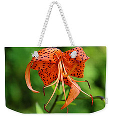 Weekender Tote Bag featuring the photograph Turn Up The Heat by Michiale Schneider
