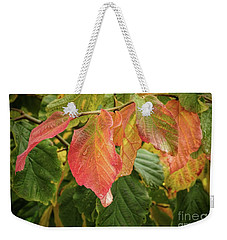 Weekender Tote Bag featuring the photograph Turning by Peggy Hughes