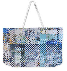 Weekender Tote Bag featuring the mixed media Turning Tide by Jan Bickerton