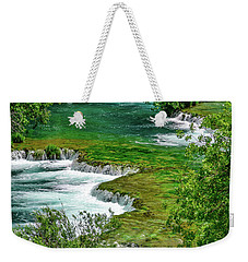 Turqouise Waterfalls Of Skradinski Buk At Krka National Park In Croatia Weekender Tote Bag