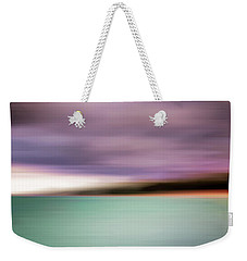 Weekender Tote Bag featuring the photograph Turquoise Waters Blurred Abstract by Adam Romanowicz