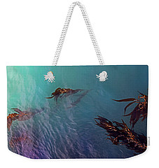 Turquoise Current And Seaweed Weekender Tote Bag