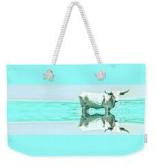 Turquoise And Steer Weekender Tote Bag