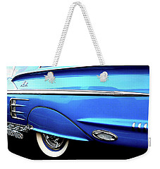 Turquoise Date In Fifty Eight Weekender Tote Bag