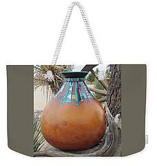 Turquoise Design Weekender Tote Bag