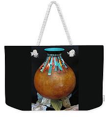 Turquoise Design Gourd Weekender Tote Bag