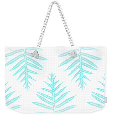 Turquoise Fern Array Weekender Tote Bag