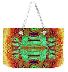 Turquoise Fire Weekender Tote Bag by Rachel Hannah