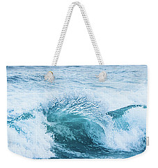 Weekender Tote Bag featuring the photograph Turquoise Formations by Parker Cunningham