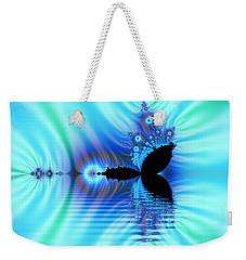 Turquoise Lake Fractal Weekender Tote Bag