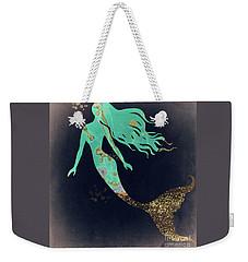 Turquoise Mermaid Weekender Tote Bag