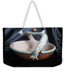 Turquoise Rope Weekender Tote Bag by Barbara Prestridge