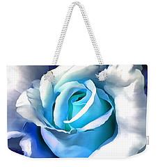 Turquoise Rose Weekender Tote Bag