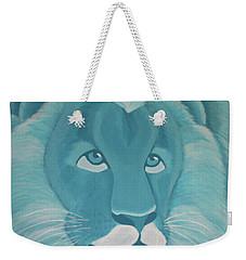Turquoise Lion Weekender Tote Bag