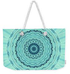 Turquoise Serenade Weekender Tote Bag by Sheila Ping