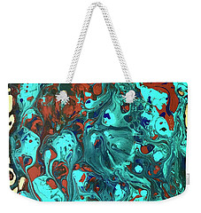 Turquoise Splash Weekender Tote Bag