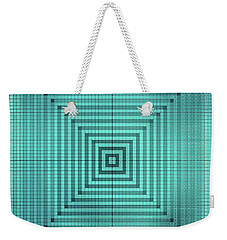 Turquoise Square Weekender Tote Bag