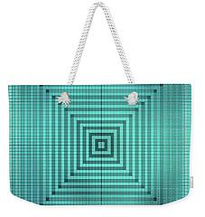 Turquoise Square Weekender Tote Bag