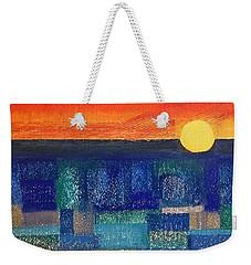 Turquoise Sunset Weekender Tote Bag