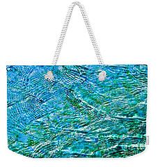 Turquoise Water Weekender Tote Bag