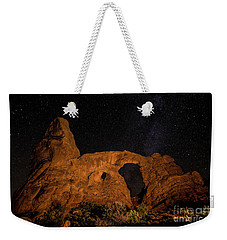 Weekender Tote Bag featuring the photograph Turret Arch And The Milky Way - Utah by Gary Whitton