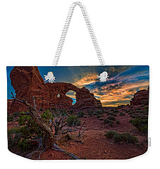 Turret Arch At Sunset Weekender Tote Bag
