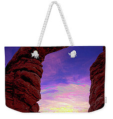 Weekender Tote Bag featuring the photograph Turret Arch To Windows by Norman Hall