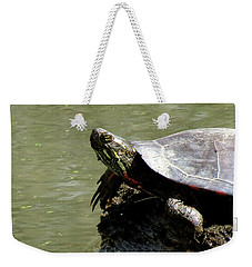Turtle Bask Weekender Tote Bag