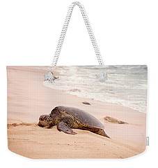 Weekender Tote Bag featuring the photograph Turtle Beach by Heather Applegate