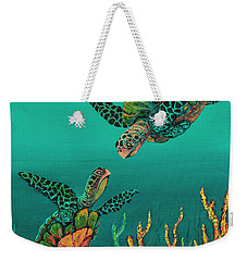 Turtle Love Weekender Tote Bag