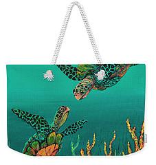 Turtle Love Weekender Tote Bag