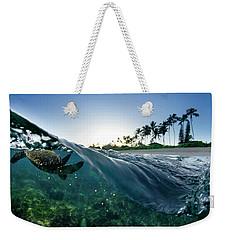 Turtle Split Weekender Tote Bag