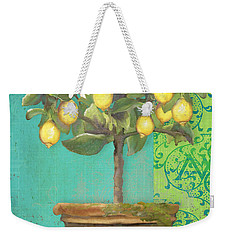 Tuscan Lemon Topiary - Damask Pattern 1 Weekender Tote Bag