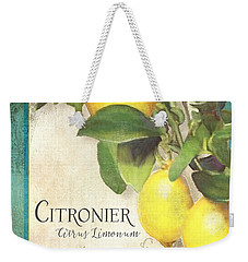 Tuscan Lemon Tree - Citronier Citrus Limonum Vintage Style Weekender Tote Bag
