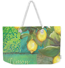 Tuscan Lemon Tree - Damask Pattern 2 Weekender Tote Bag