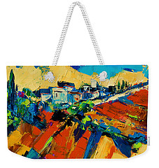Weekender Tote Bag featuring the painting Tuscan Light by Elise Palmigiani