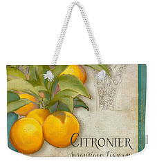 Tuscan Orange Tree - Citronier Aurantiaco Lignum Vintage Weekender Tote Bag