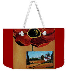 Tuscan Poppy Postcard Weekender Tote Bag