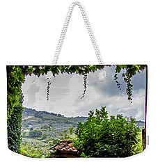 Tuscan Street View Weekender Tote Bag by Jean Haynes