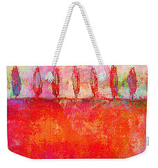 Tuscan Trees In Vivid Color Weekender Tote Bag by Suzanne Powers