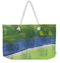 Weekender Tote Bag featuring the painting Tuscany Garden by Don Koester