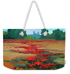 Tuscany Poppy Field Weekender Tote Bag by Diane McClary