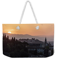Tuscany Sunset In Florence Italy  Weekender Tote Bag